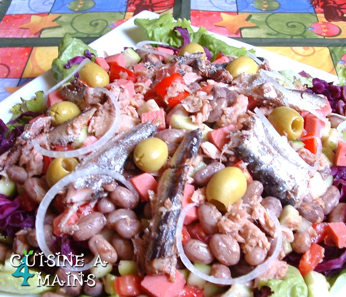 Salade fraiche de fruits l gumes et labn cuisine 4 for Cuisine 4 mains
