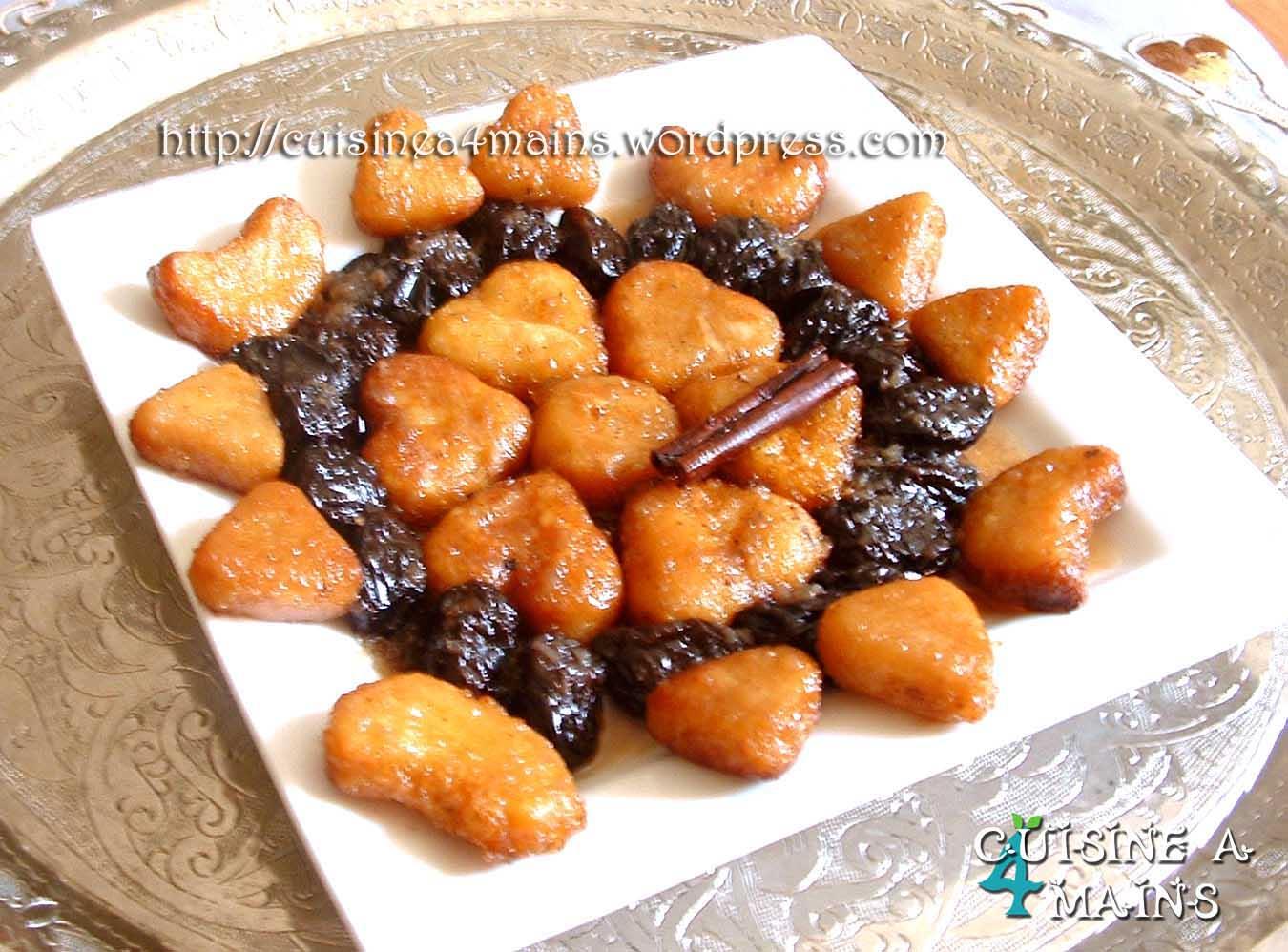 Tajine pruneaux amandes chbeh essafra cuisine 4 mains for Cuisine 4 mains