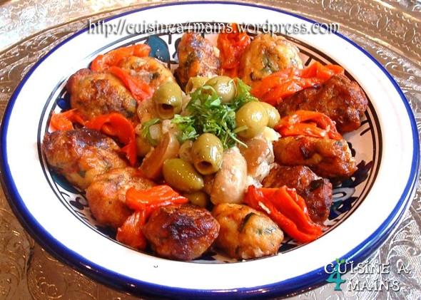 Tagine de boulettes de poisson de Houriat el matbakh