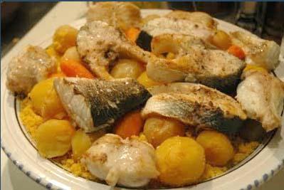 couscous tunisien au poisson de nada