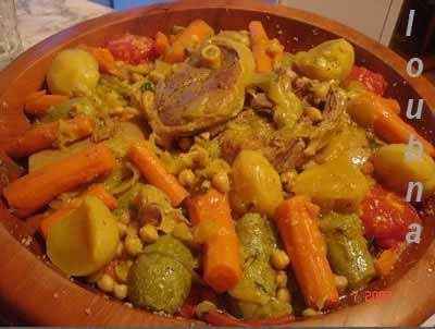couscous à l'orge et aux légumes de loubna