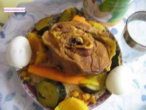 couscous aux légumes et à la viande de Fatna