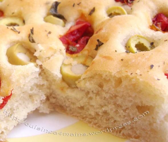Focaccia et remerciements cuisine 4 mains - Veritable pate a pizza ...