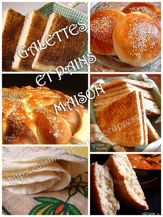 Galettes et pains maison cuisine 4 mains for Cuisine 4 mains