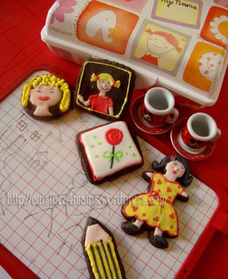Biscuits au chocolat et petits jeux cuisine 4 mains for Cuisine 4 mains