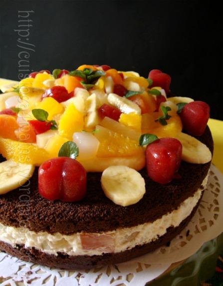 chocolat et fruits un g 226 teau gourmand cuisine 224 4 mains