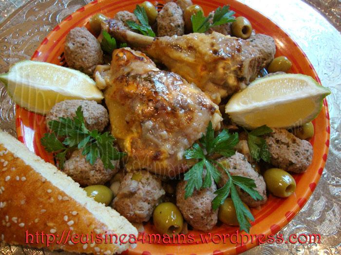 Tajine de poulet aux olives cuisine 4 mains for Cuisine 4 mains