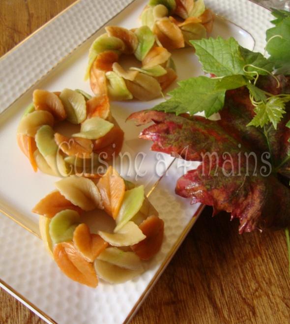 Couronnes d automne aux cacahu tes cuisine 4 mains for Cuisine 4 mains