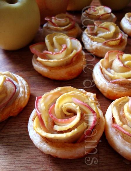 quand la pomme se prend pour une rose feuillet s aux pommes cuisine 4 mains. Black Bedroom Furniture Sets. Home Design Ideas