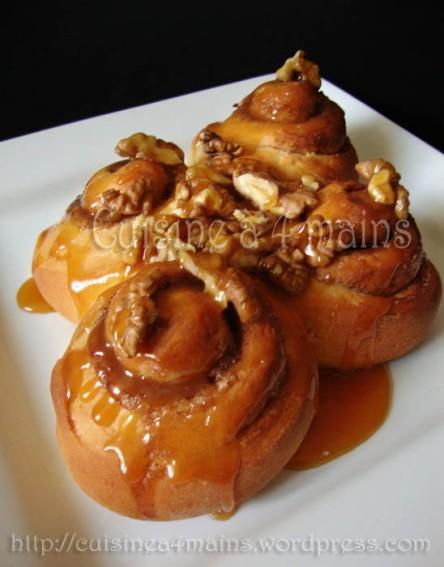 cinnamon buns brioches 224 la cannelle caramel au beurre sal 233 et noix cuisine 224 4 mains