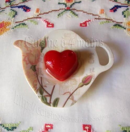 coeur saint valentin  cuisine à 4 mains
