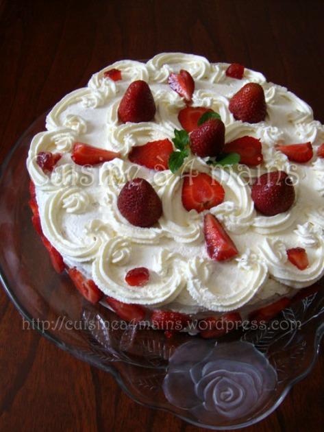 gâteau aux fraises2 - cuisine à 4 mains