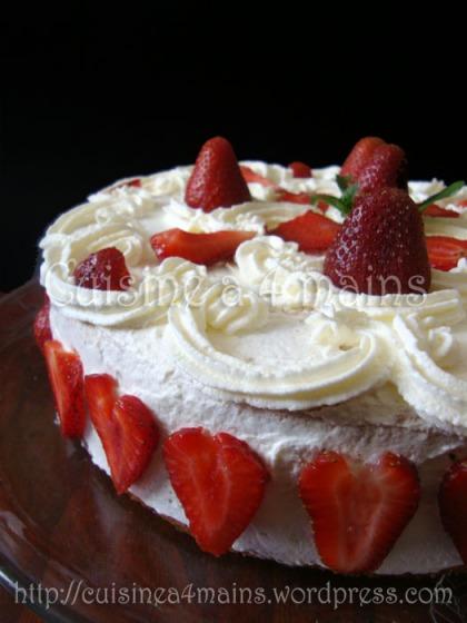 gâteau aux fraises3- cuisine à 4 mains