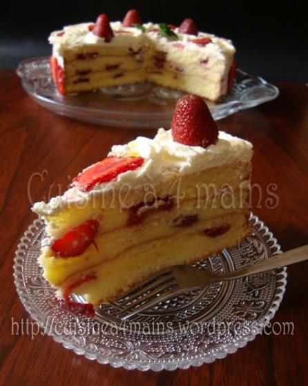 gâteau aux fraises4- cuisine à 4 mains