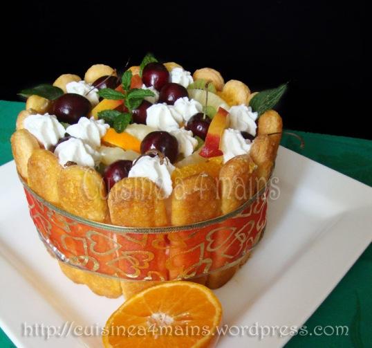 charlotte glacée aux fruits 1  - cuisine à 4 mains