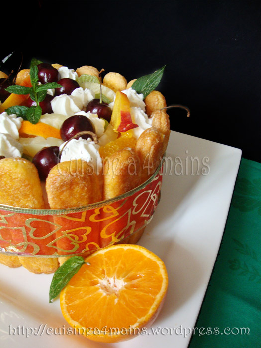 charlotte glacée aux fruits 6  - cuisine à 4 mains