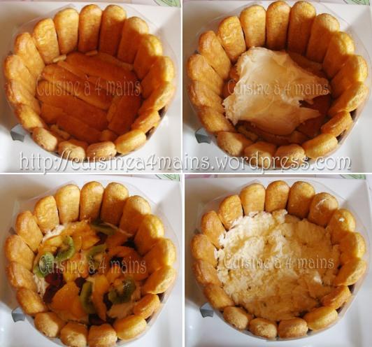 charlotte glacée aux fruits 7  - cuisine à 4 mains