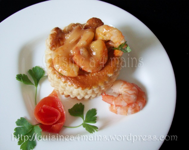 feuilletés aux fruits de mer 4 -  cuisine à 4 mains