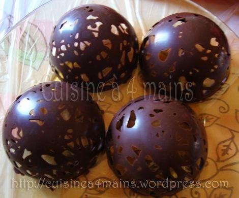 glace sous chocolat 9  cuisine à 4 mains