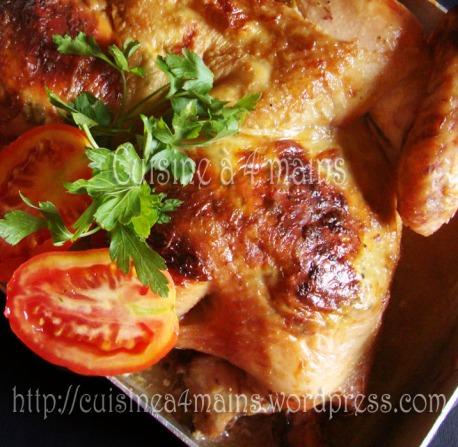 poulet roti 3 - cuisine à 4 mains