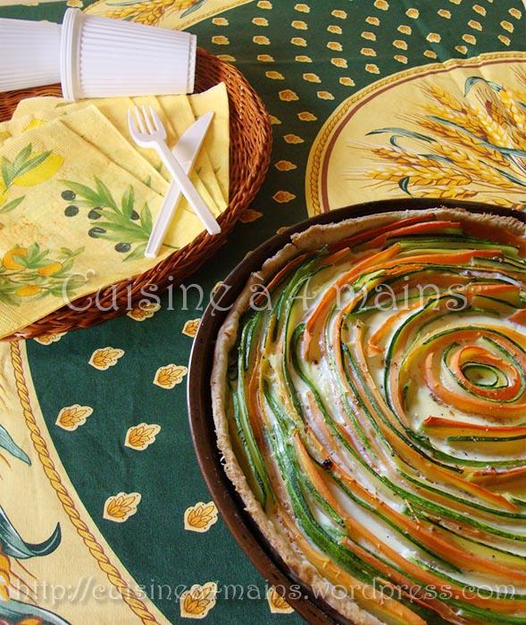 tarte légume spirale  cuisine à 4 mains
