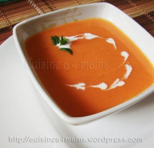 soupe à la tomate2  - cuisine à 4 mains