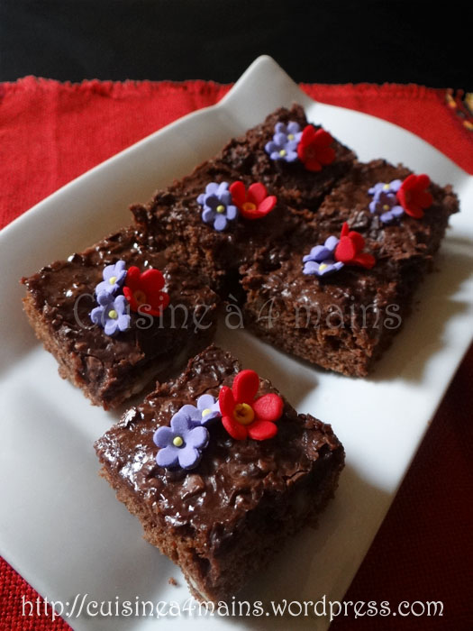 brownies1-  cuisine à 4 mains