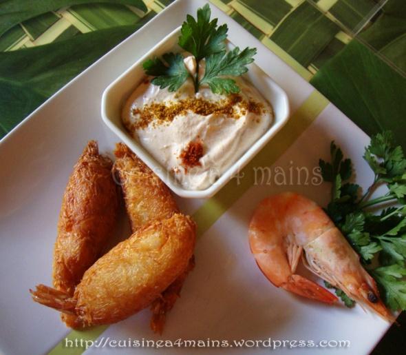 crevettes en habit1 -  cuisine à 4 mains