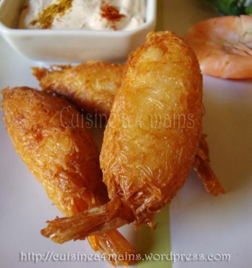 crevettes en habit4 -  cuisine à 4 mains
