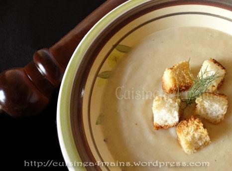 velouté de choux fleur3 - cuisine à 4 mains