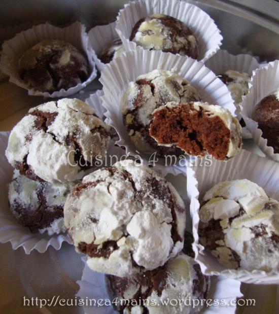 biscuits craquelés au chocolat1   cuisine à 4 mains