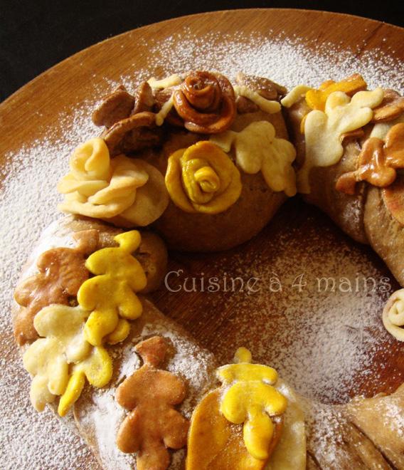 couronne d'automne 7  - cuisine à 4 mains