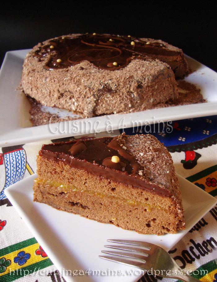 Sachertorte pour le daring baker d octobre cuisine 4 mains for Cuisine 4 mains