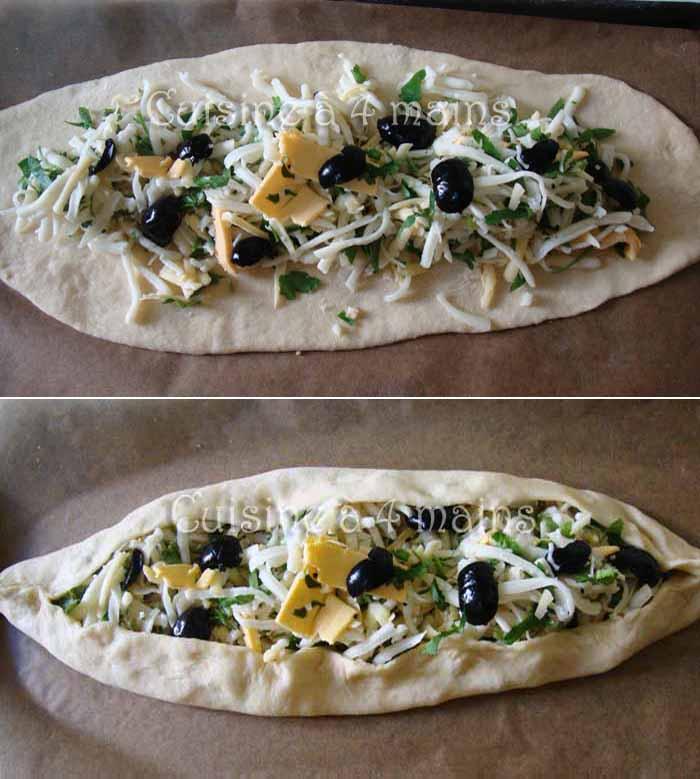 Peynirli Pide4 -  cuisine à 4 mains