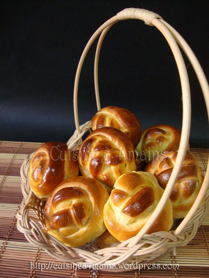 Brioches farcies aux pommes caram lis es et nouveau for Cuisine 4 mains