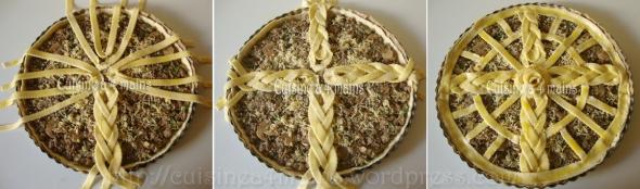 tarte feuilletée champignons viande hachée1 - cuisineà 4 mains