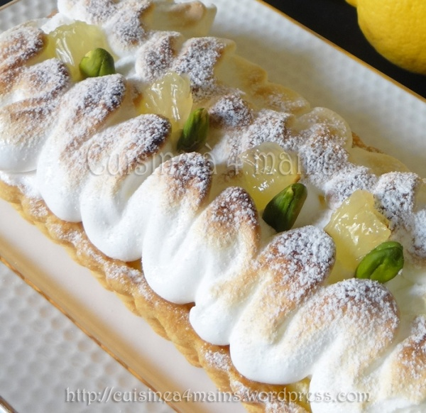 tarte au citron 3- cuisine à 4 mains