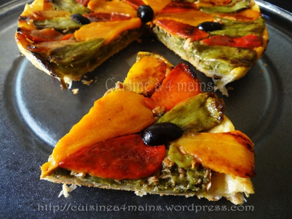 tarte tatin aux poivrons 4 - cuisine à 4 mains