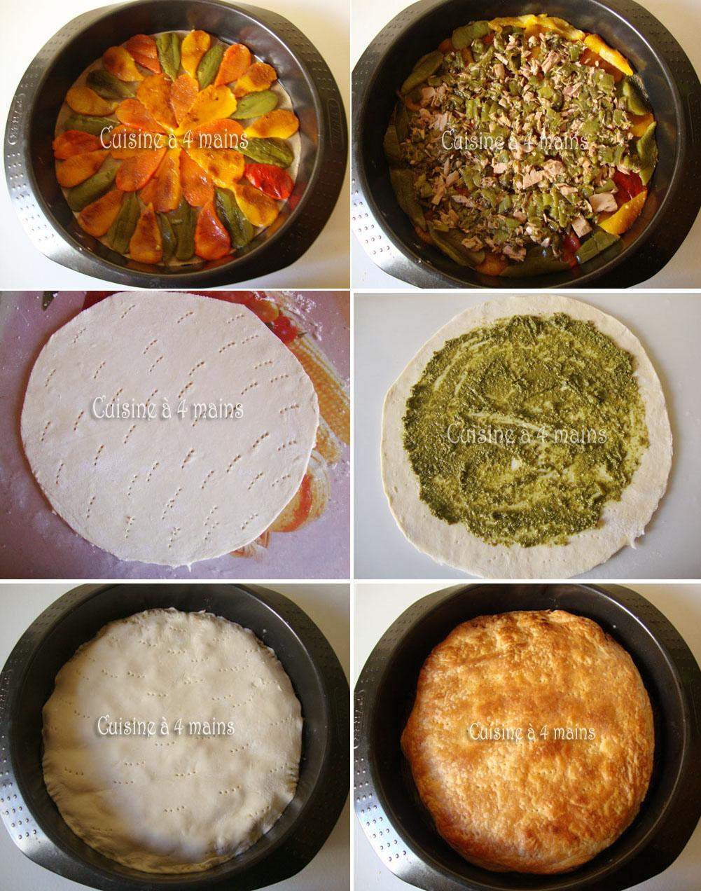 tarte tatin aux poivrons 6 - cuisine à 4 mains
