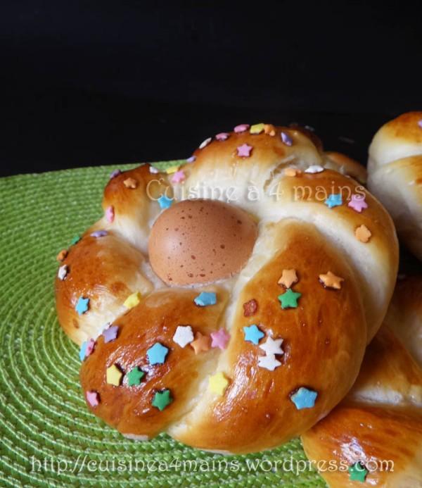 brioches nids de Pâques2 - cuisine à 4 mains