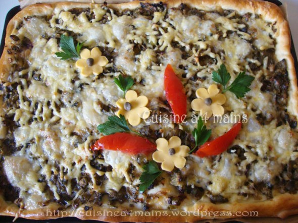 pizza verde1- cuisine à 4 mains