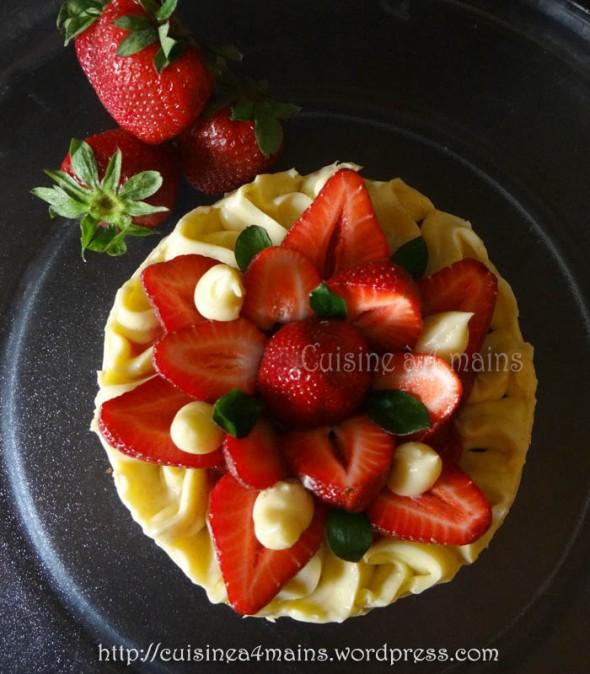 fraisier philippe conticcini - cuisine à 4 mains