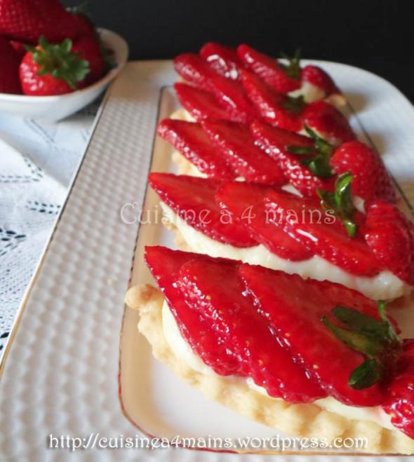 tartelettes aux fraises 2- cuisine à 4 mains