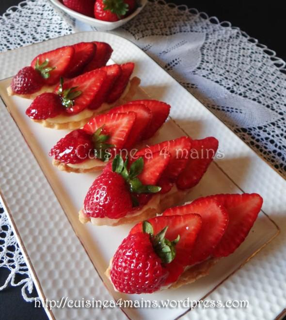 tartelettes aux fraises- cuisine à 4 mains