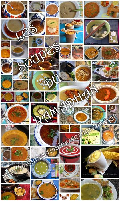 Soupes pour le Ramadhan- cuisine à 4 mains