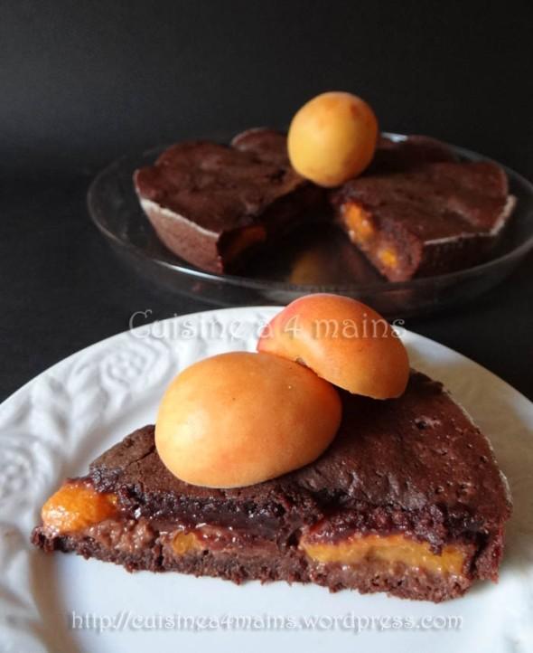 Fondant au chocolat au abricots3 - cuisine à 4 mains