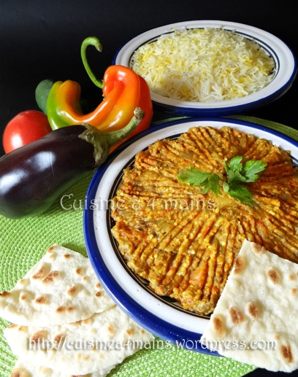 Mirza Ghassemi Plat Iranien Aux Aubergines Cuisine à Mains - Cuisine iranienne