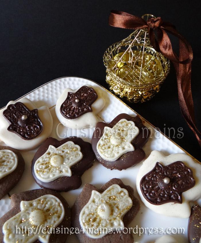 Sabl s khamssa au chocolat cuisine 4 mains for Cuisine 4 mains