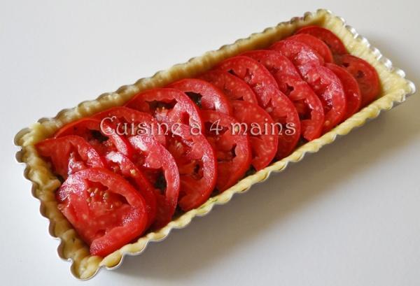 Tarte à la tomate et pesto4- cuisine à 4 mains