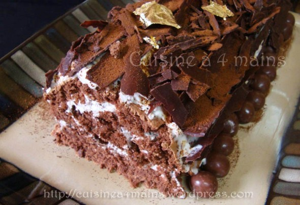 bûche chocolat 21 - cuisine à 4 mains